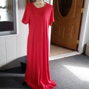 Marie Red maxi dress lula roe